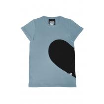 Naiste südame T-särk, Stone Blue